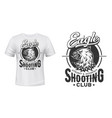 eagle t-shirt print mockup shooting sport club vector image vector image