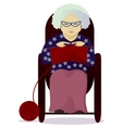 granny knit isolated on white vector image