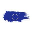 grunge brush stroke with european union national vector image
