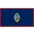 Guam paper flag vector image vector image