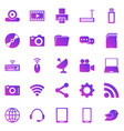 hi-tech gradient icons on white background vector image