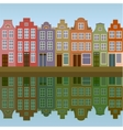 houses on amsterdam canal vector image vector image