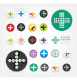 icons plus design set vector image