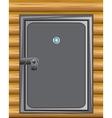 Iron door in wall vector image vector image