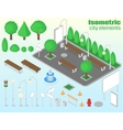 Isometric city elements set vector image vector image