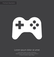 joystick premium icon white on dark background vector image