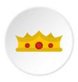 king crown icon circle vector image vector image