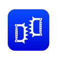 knuckles with spikes icon digital blue vector image