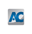 letter ac vector image