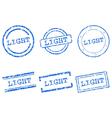 Light stamp vector image vector image