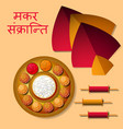 makar sankranti kite festival in india winter vector image