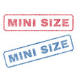 mini size textile stamps vector image vector image
