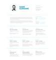 minimalist resume cv template vector image vector image