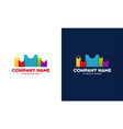 modern and colorful city shop logo vector image vector image