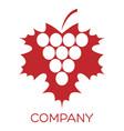 modern wine logo vector image vector image