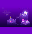 office life - colorful isometric web banner vector image vector image