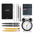 office supplies realistic alarm clock vector image vector image