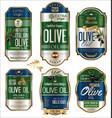 olive oil retro vintage golden background vector image