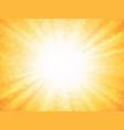 orange rays geometric summer background vector image vector image