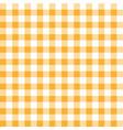 orange table cloth squares stylish background vector image