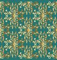 ornate gold baroque damask seamless pattern vector image