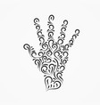 palm made of decorative ornate ornaments and curls vector image vector image