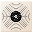 paper rifle target with bullet holes vector image