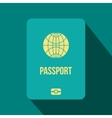 Passport flat icon vector image vector image