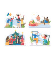people celebrating different holidays vector image
