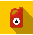 Plastic oil canister flat icon vector image vector image