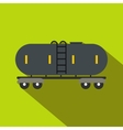 Railroad gasoline and oil tank flat icon vector image vector image