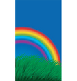 rainbow in field vector image vector image