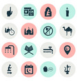 religion icons set collection of body cleansing vector image vector image