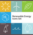renewable energy icons set vector image