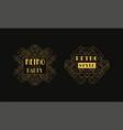retro style party card templates set luxury art vector image