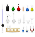 science lab laboratory equipment tool a set of vector image vector image