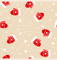 seamless pattern with mittens and snowballs vector image vector image