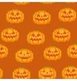 Seamless Pixel Pumpkin Pattern vector image