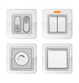 set electric power switches with on off buttons vector image