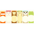 set of vertical banners with cute animals vector image vector image