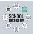 set school icons design vector image