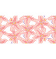 soft seamless floral pattern beautiful lily vector image vector image