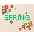 Spring multicolored cutout paper flowers Spring vector image
