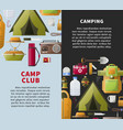 summer camp club posters for forest camping vector image vector image