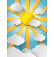 sun bust vector image