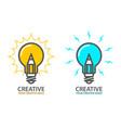 symbol creative idea - light bulb icon vector image vector image