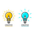 symbol of creative idea - light bulb icon vector image vector image