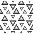 The pattern of black and white triangles vector image vector image