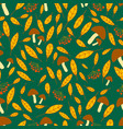 vivid forest autumn seamless pattern with vector image