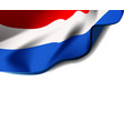 waving flag of netherlands close-up with shadow vector image